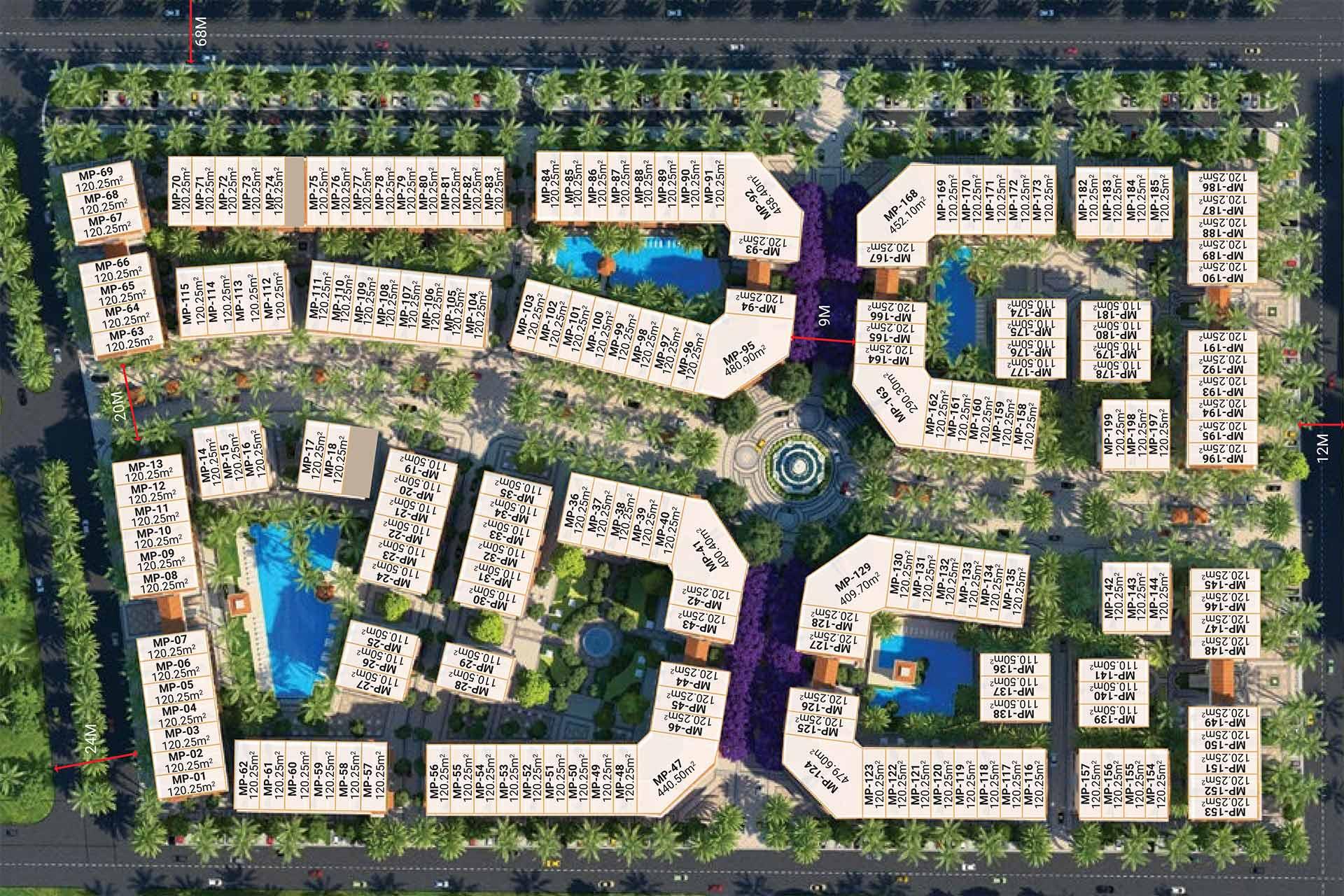 Sơ đồ phân lô Phu Quoc Marina Square