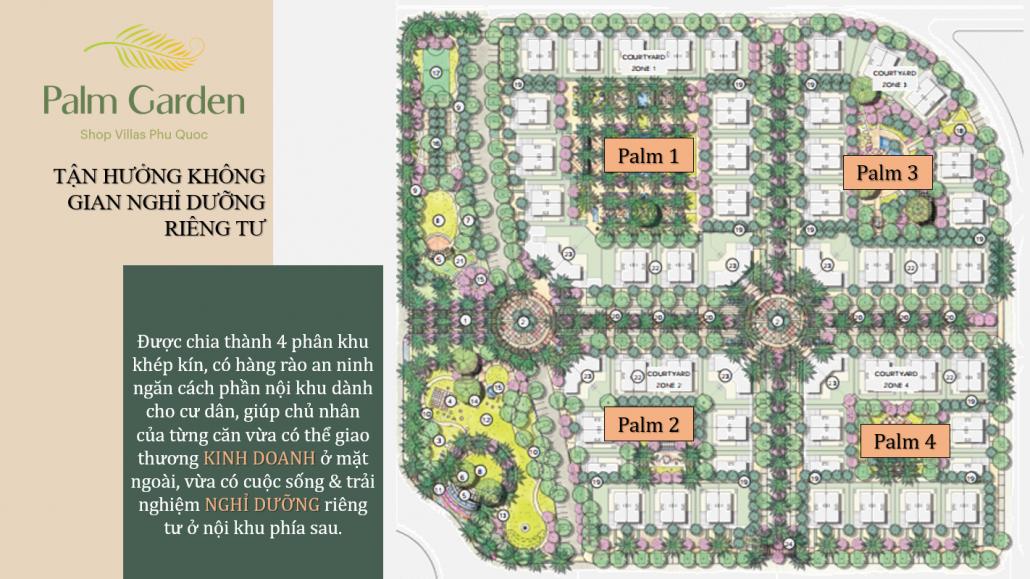 Palm Garden Shop Villas - Mat bang phan khu