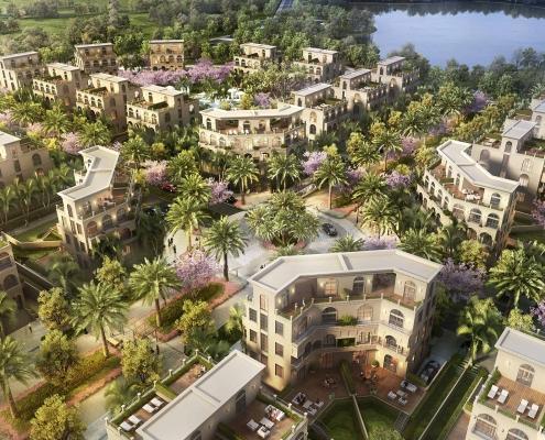 Palm Garden Shop Villas Phu Quoc phoi canh