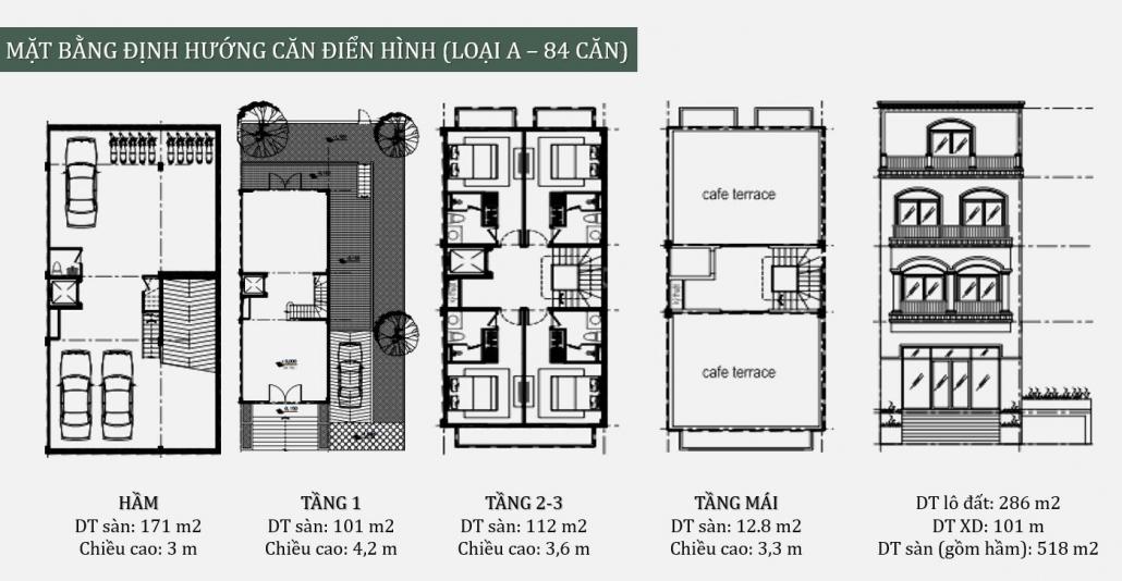 Palm Garden shop villas mat bang dinh huong can dien hinh