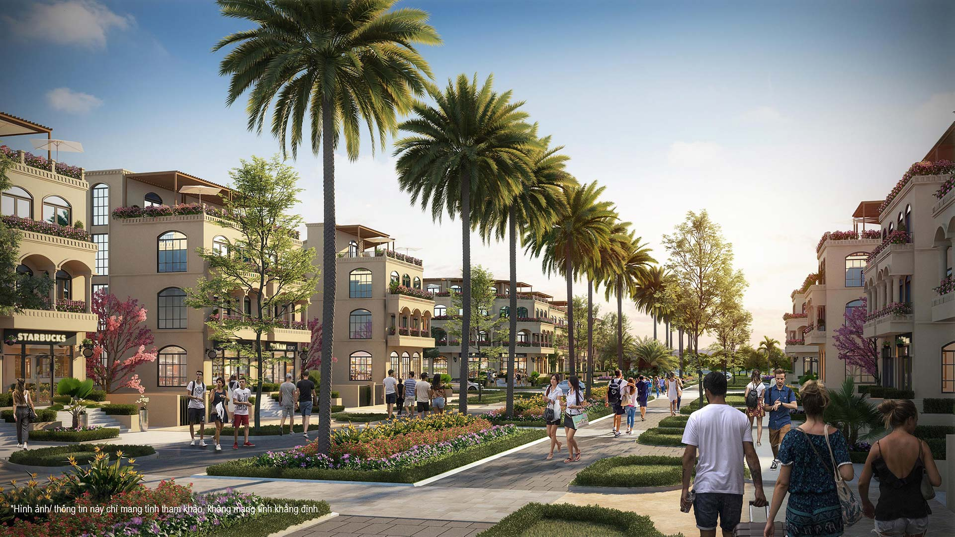 Palm Garden Shop Villas - Phoi canh noi khu