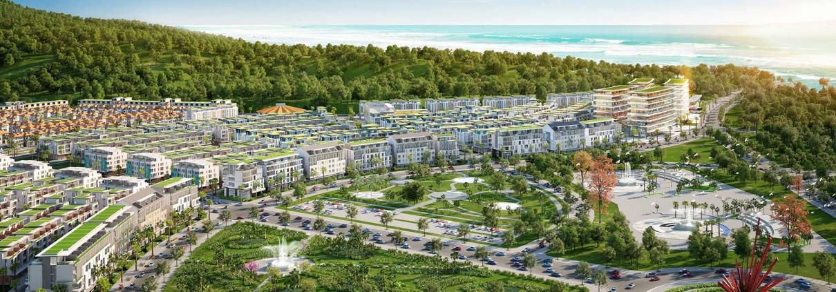Phú Quốc đang tiến nhanh tới mục tiêu trở thành Thành phố biển đảo đầu tiên của Việt Nam. Ảnh đô thị Meyhomes Capital Phú Quốc tại trung tâm An Thới